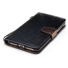 Protective Flip Open PU Leather Case for IPHONE 7 - Black