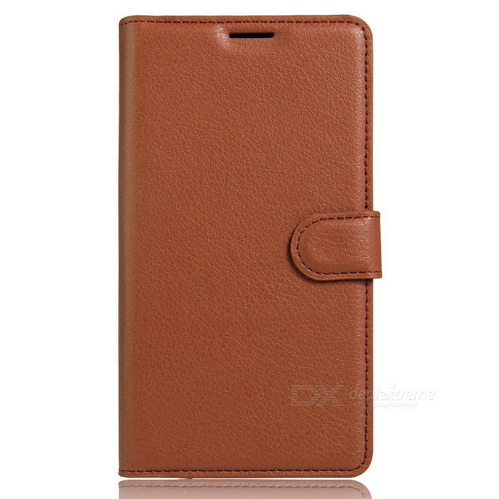 Flip Open PU Leather Wallet Case for IPHONE 7 Plus - Brown