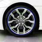 "ZIQIAO DIY Car Motorcycle Wheel 17 ~ 19"" Reflective Sticker-Blue (18PCS)"