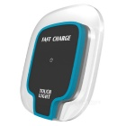 Mindzo F07 Fast Charging Wireless Charger w/ Touch Light - Blue +Black