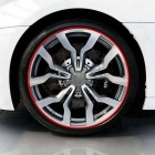 "ZIQIAO DIY Car Motorcycle Wheel 17~19"" Reflective Stickers (18 PCS)"