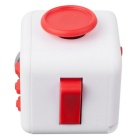 Fidget Dice Cubic Toy for Focusing / Stress Relieving - White + Red