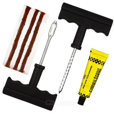ZIQIAO Car Tubeless Tire Puncture Plug Repair Sealant Cement Fix Tool