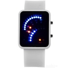 Fashion Creative Fan Shaped Time Display LED Digital Watch - White