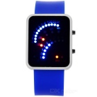 Fashion Creative Fan Shaped Time Display LED Digital Watch - Blue