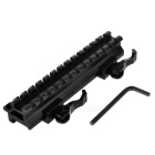 D0037 22mm Rail Mount Quick Release Extended Weaver for Gun M16 -Black
