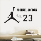 Removable DIY 3D PVC Personalized Basketball Wall Sticker - Black (L)
