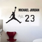 Removable DIY 3D Basketball Playing Wall Sticker - Black (M)