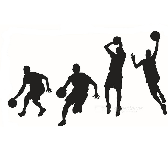 removable diy 3d basketball character decorative wall