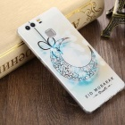 3D Three Dimensional Embossed Edge Back Case for Huawei P9 - White