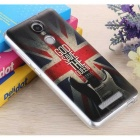 3D Three Dimensional Embossed Back Case for Redmi Note 3 - Grey + Red
