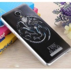 3D Tridimensional Embossed Back Case para Redmi Note 3 - Negro