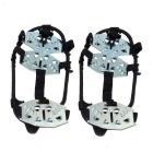 Ice Spike Cleats Crampons Snow Boot Shoe Covers - Black (L / Pair)
