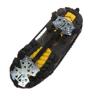 Ice Spike Cleats Crampons Snow Boot Shoe Covers - Black (M / Pair)