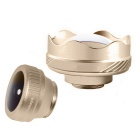 3-in-1 HD Full Fisheye + Wide Angle Lens + Macro Lens - Golden