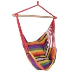 Outdoor Swing Hanging Hammock Striped Tuoli - Punainen + monivärinen