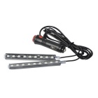 CARKING 2-in-1 9-LED Red Light Car Interior Atmosphere Light