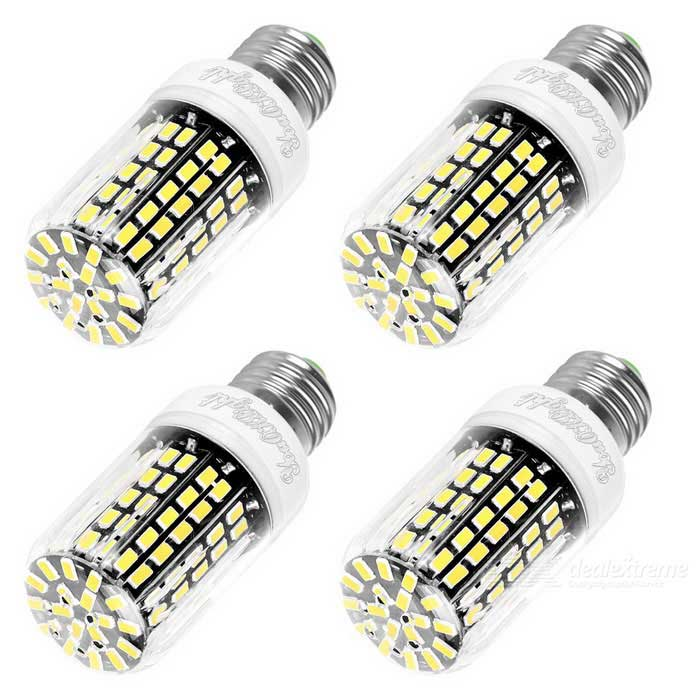 YouOKLight E27 10W LED Corn Bulb Warm White Light 108-SMD 5733 (4PCS)E27<br>Color BINWarm WhiteModelYK1082MaterialAluminum + plasticForm  ColorWhite + Black + Multi-ColoredQuantity4 DX.PCM.Model.AttributeModel.UnitPower10WRated VoltageAC 110 DX.PCM.Model.AttributeModel.UnitConnector TypeE27Chip BrandOthers,CHANG FANGEmitter TypeOthers,5733 SMD LEDTotal Emitters108Actual Lumens950 DX.PCM.Model.AttributeModel.UnitColor Temperature3000KDimmableNoBeam Angle360 DX.PCM.Model.AttributeModel.UnitCertificationCE, RoHS, FCC, WEEEPacking List4 * LED Corn bulbs<br>