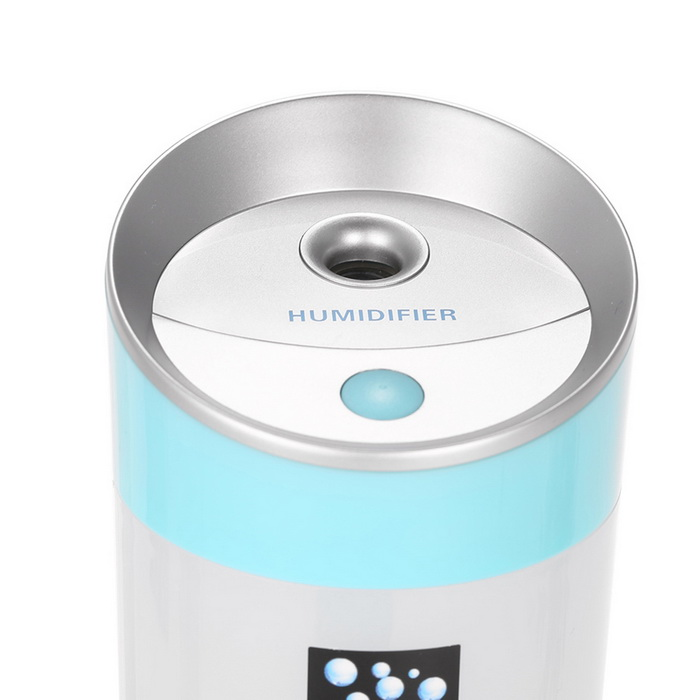 Home Office White Blue: 3-in-1 300mL Mulitfunction Humidifier For Home / Office