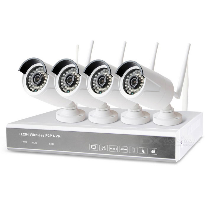 share vision XF1604S-LW-K Wireless P2P NVR IP Camera - UK Plug (4 PCS)