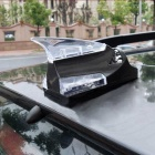 ZIQIAO Wind Powered LED Decorative Roof Lamp for Car - Black