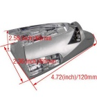 ZIQIAO Wind Powered LED Decorative Roof Lamp for Car - Silver