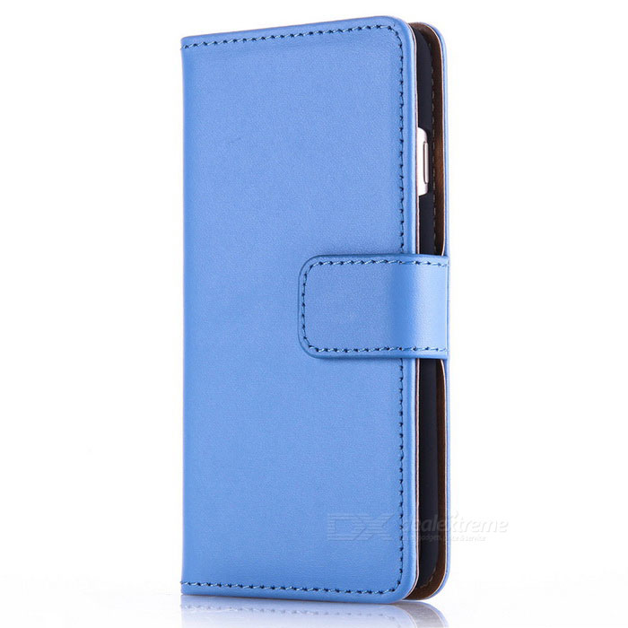 Protective PU Leather + PC Case for IPHONE 7 - Blue