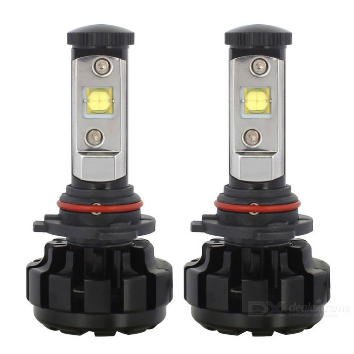MZ 9006 6000K DC9-30V 60W LED Cold White Light Car Headlight - Black