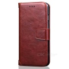PU Leather + TPU Flip Open Back Case for IPHONE 7 PLUS - Brown