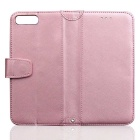 PU Leather + TPU Flip Open Back Case for IPHONE 7 PLUS - Pink