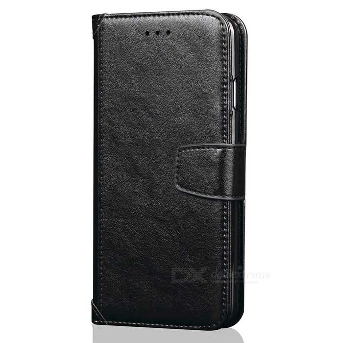 PU Leather + TPU Case Flip Open Back for IPHONE 7 PLUS - Black
