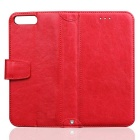 PU Leather + TPU Flip Open Back Case for IPHONE 7 PLUS - Red