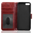 PU Leather + TPU Flip Open Back Case for IPHONE 7 - Brown