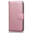 PU Leather + TPU Flip Open Back Case for IPHONE 7 - Pink