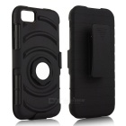 Back Clip TPU + PC Case w/ Ring Holder for IPHONE 6 / 6S - Black