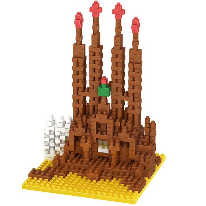 3D DIY Building Blocks Holy Family Cathedral Model Educational Toy
