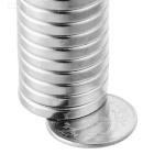 18mm * 3mm Round Shaped Magnetic NdFeB Magnets - Silver (20 PCS)