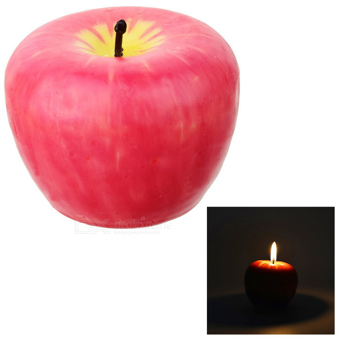 Apple Shaped Candles Light Gift for Christmas Decoration - Red (Large)Christmas Gadgets<br>Form ColorRed - LargeMaterialABSQuantity1 DX.PCM.Model.AttributeModel.UnitSuitable holidaysChristmasPacking List1 * Candle<br>