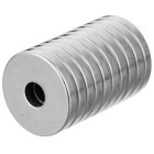 18mm * 3mm Round Shaped Magnetic NdFeB Magnets - Silver (10 PCS)