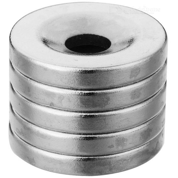 18mm * 3mm Round Shaped Magnetic NdFeB Magnets - Silver (5 PCS)