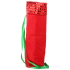 Christmas Santa Claus Wine / Champagne Bottle Cloth Bag - Red + White