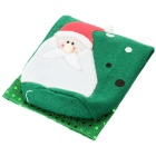 Christmas Santa Claus Wine / Champagne Bottle Cloth Bag -Green + White