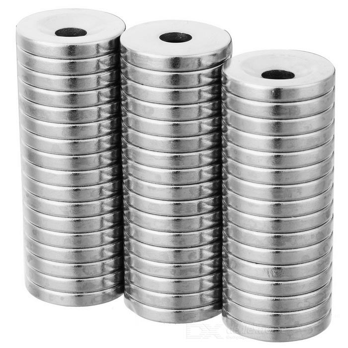 18mm * 3mm Round Shaped Magnetic NdFeB Magnets - Silver (50 PCS)