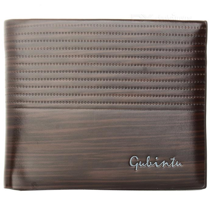 GUBINTU KL017 Men's Leather Wallet w/ Card Slots - Dark Coffee