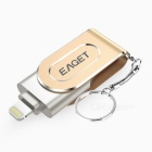 128GB de ouro USB 3.0 / relâmpago OTG mini flash drive / disco para iphone, ipad, mac / pcs