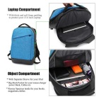 DTBG D8063W 15.6 Inch Laptop Backpack w/ USB 2.0 Port - Blue