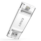 EAGET I60 64GB USB3.0 / blixt OTG flash-enhet disk - silver + vit
