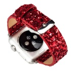Pulsera de cuero para reloj de Apple para Apple Watch 42mm - rojo
