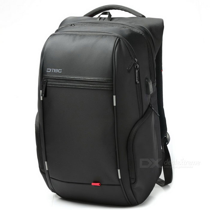 DTBG D8195W 15.6 Inch Laptop Storage Backpack w/ USB 2.0 Port - Black