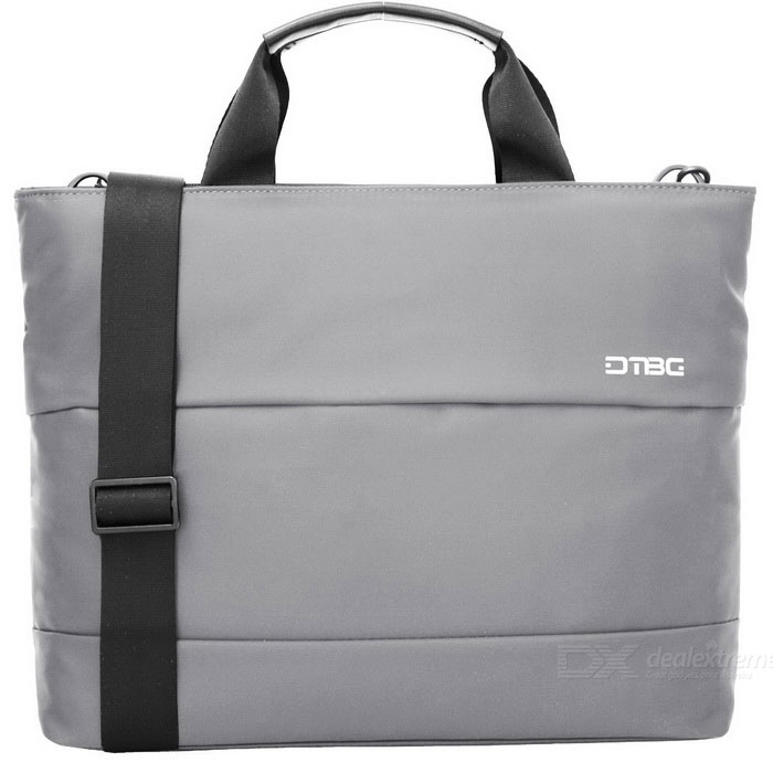DTBG D8197W 15.6 Water Resistant Nylon Laptop Shoulder Bag - GreyBags and Pouches<br>Form  ColorGrey (15.6 Inch)ModelD8197WQuantity1 DX.PCM.Model.AttributeModel.UnitShade Of ColorGrayMaterialNylonCompatible Size15.6 inchTypeMessengers,Tote BagsPacking List1 * Hand Bag<br>
